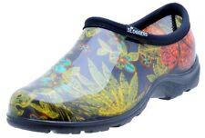 Sloggers Women's Rain&Garden Shoe, Midsummer Black Print ,size8-Style 5102BK08