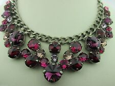 Sorrelli Pink Ruby Necklace NCW10ASPR  Antique silver tone