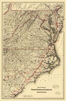 Norfolk Wilmington and Charleston Railroad - Colton 1891 - 23.00 x 35.06