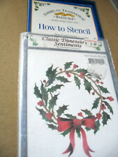 """""""Holly Wreath"""" Three-Part Overlay Stencil Pattern & Instructions. American Tradi"""