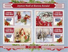 Togo 2015 MNH Merry Christmas Happy New Year 4v M/S Santa Claus Deer Snow Stamps