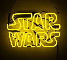 "Star Wars Neon Sign Light Handmade Visual Artwork Beer Bar Pub Wall Poster13""x8"""