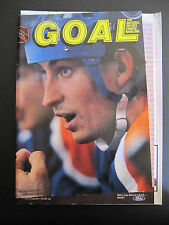 NHL GOAL Magazine - 1985 Wayne Gretzky Cover / Red Wings vs. Oilers w/Game Sheet