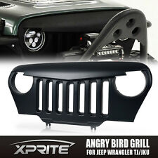 Matte Black Custom Front End Angry Bird Grille Grill for 97-06 Jeep Wrangler TJ