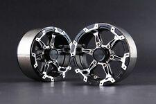 "Jazrider Aluminum 1.9""Beadlock 6-Spokes Wheels(D)Black For RC Crawler SCX10/CC01"