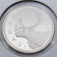 1991 Proof Canada 25 Twenty Five Cent Quarter Canadian Uncirculated Coin G459
