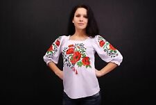 Ukrainian embroidered sorochka, women's blouse, vyshyvanka, embroidery, Size XXL