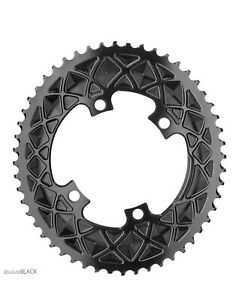Absolute Black Oval Chainnring 46T Gravel Sub-compact 110/4 Shimano