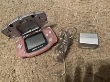 NINTENDO GAMEBOY ADVANCE PINK AGB-001 W/ INTEC LIGHT & RECHARGEABLE BATTERY PACK