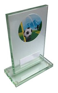Glass Trophy award for FootGolf Free Engraving
