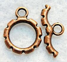 10Sets Tibetan Antique Copper ROUND Toggle Clasps Connectors Findings C203