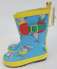 NEW! Sun Squad Toddler Boys Shark Garden Rain Boots S 5/6, M 7/8, L 9/10