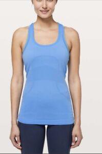 Lululemon Swiftly Tech Speed Racerback Tank Top Run Shirt Size 8 blue