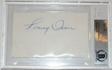 Tommy Ivan Signed 3X5 Index Card Beckett Authenticated