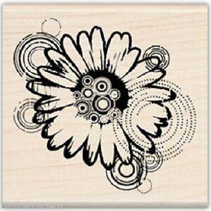 MOD DAISY Rubber Stamp 99184 Inkadinkado Brand NEW! flower floral