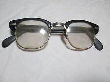 Vintage Men's Black Plastic Frame Glasses