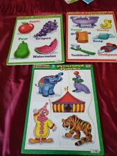 Lot of 3 Puzzlepatch Preschool Puzzles