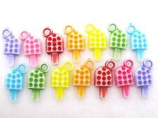 150 x Colorful Popsicle Shape Acrylic Charm Beads Crafts DIY Jewelry US Seller