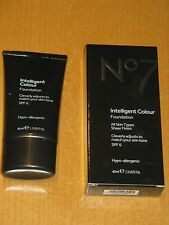 No7 INTELLIGENT COLOUR FOUNDATION 40ml NEW/BOXED