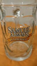 Samuel Adams Octoberfest Glass Beer Mug Stein Sam Adams .5L EUC