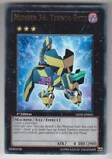 YU-GI-OH Number 34 Terror Byte Ultra Rare englisch GENF-EN041 Nummer 34