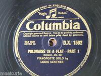 """78rpm 12"""" LOUIS KENTNER chopin polonaise Ab op.53 , 1&2 , DX 1502"""