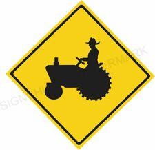 TRACTOR SIGN / CAUTION SIGN / ALUMINUM /  DECOR, FARM, FARMER