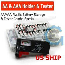 Battery Tester Universal Volt Checker AAA AA C D 9v & Button Cell US