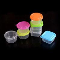 cajas de almacenamiento cuadradas y redondas de 3x alimentación de bebé plástico