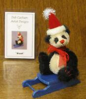 "DEB CANHAM Artist Designs Coll. WOOSH, Christmas Coll. 3.75"" Mohair Panda"