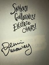 ALICE COOPER GROUP SNAKES GUILLOTINES ELECTRIC CHAIRS DENNIS DUNAWAY SIGNED BOOK