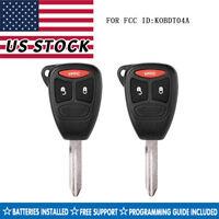 2 for Dodge Dakota 2004 2005 2006 2007 2008 2009 2010 2011 keyless remote key