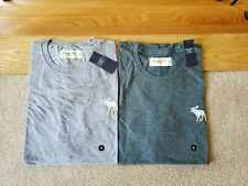NWT Abercrombie & Fitch Men Crew Exploded Logo T-Shirt M,L or XL 3 Colors