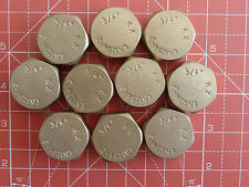 10 x 3/4 in ottone Blanking Dado/copertura per il lavaggio/per stoviglie MACCHINA Rubinetti