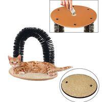 Cat Arch Bristles Self Groomer Massager Scratching Pet Kitten & Cat Nip Play Toy