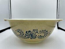 Vintage Pyrex Homestead Blue On Speckled Beige Cinderella Mixing Bowl 442,1.5L