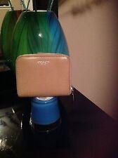 Coach Sand Tan Leather Medium Zip Around Wallet