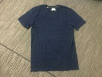 Selected Homme Men's Small Tee T Shirt Short Sleeve Crewneck Blue Cotton/Poly
