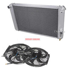 "1986-2005 Chevy S10 with V8 Chevy conversion 3 Row CHAMPION RADIATOR & 12"" Fans"
