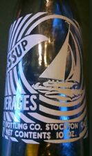 Jessup Beverages sailboat Stockton Cal. ACL soda bottle