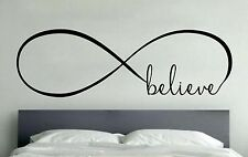 BELIEVE INFINITY LOVE Wall Art Decal Quote Words Lettering Home Decor DIY