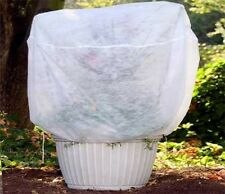 """3x 0.55oz Fabric Plant Cover Bags for Frost Protection/Insect Barrier 34x28"""""""