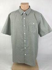 Clearwater Outfitters Mens Size XL Shirt Short Sleeves Blue Yellow Button Front