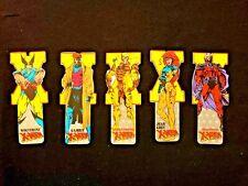 Lot 5 Marvel X-Men bookmarks Wolverine Magneto Jean Grey + 1990s vintage comic