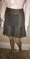 Vivienne Westwood ~ Red Label ~Black White Brown Grey Tartan Check Skirt 42 UK10