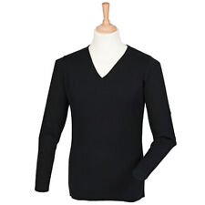 Henbury Cashmere Touch Acrylic V-Neck Jumper H760 - Mens Office Workwear Sweater