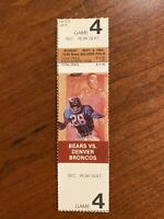 1984 Chicago Bears vs Denver Broncos Ticket Soldier Field Walter Payton