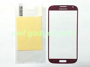 New Front Outer Glass Replacement  for Samsung Galaxy S4 i9500+SP  (Red) -US