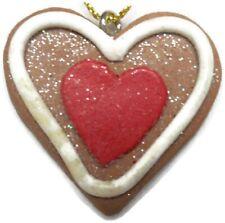 Plastic Heart Christmas Ornament Looks Like A Cookie Tree Decor