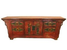 Chinese Antique  Long Coffee Table 4 drawers and Two Doors
